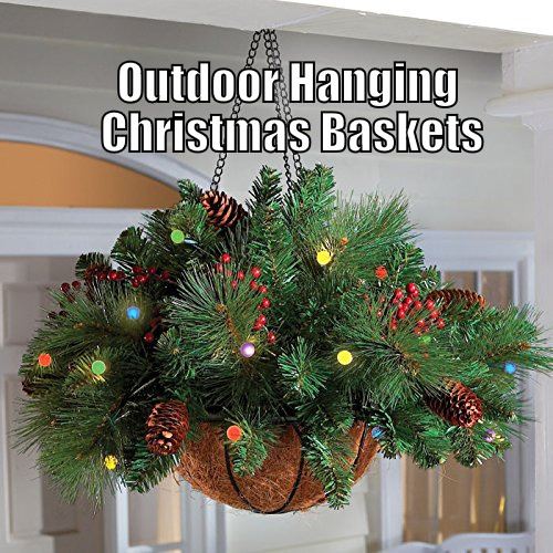 Christmas Hanging Baskets With Lights.Best Christmas Hanging Baskets With Lights Christmas